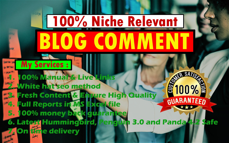 Do 25 Niche Relevant Blog Comments Manual
