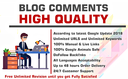do 2500 Blog comments PR7 to PR10 Backlinks Boost SEO Ranking
