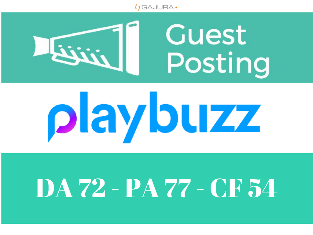 Write And Publish A Guest Post On Playbuzz Playbuzz. com DA 64