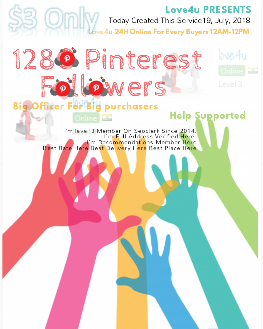 Get 1280 Pinterest Followers Real Human with world wide Followers