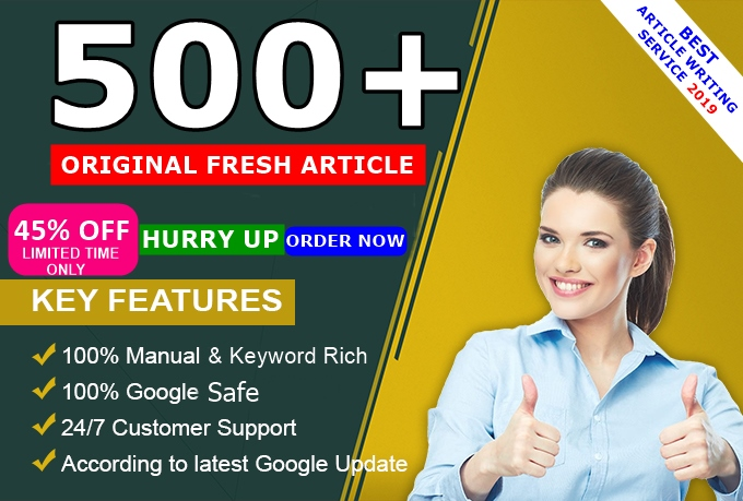 ALL NICHE Write ORIGINAL SEO 400 - 500 QUALITY ARTICLE For Your Blog Post