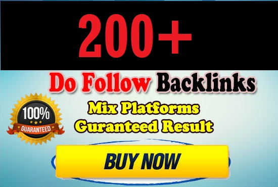 Provide 200 High Quality Do-Follow Backlinks For Your Ranking