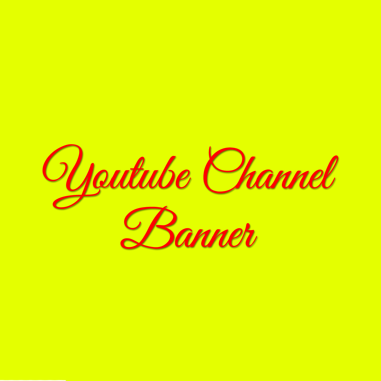 Design a Y-Tube channel banner