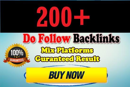 200 Do-Follow PR3-9 DA30-70+ Backlinks For Your site