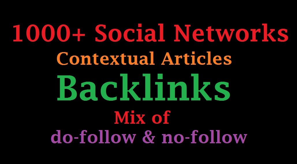 1000 Social Networks Contextual Articles Backlinks
