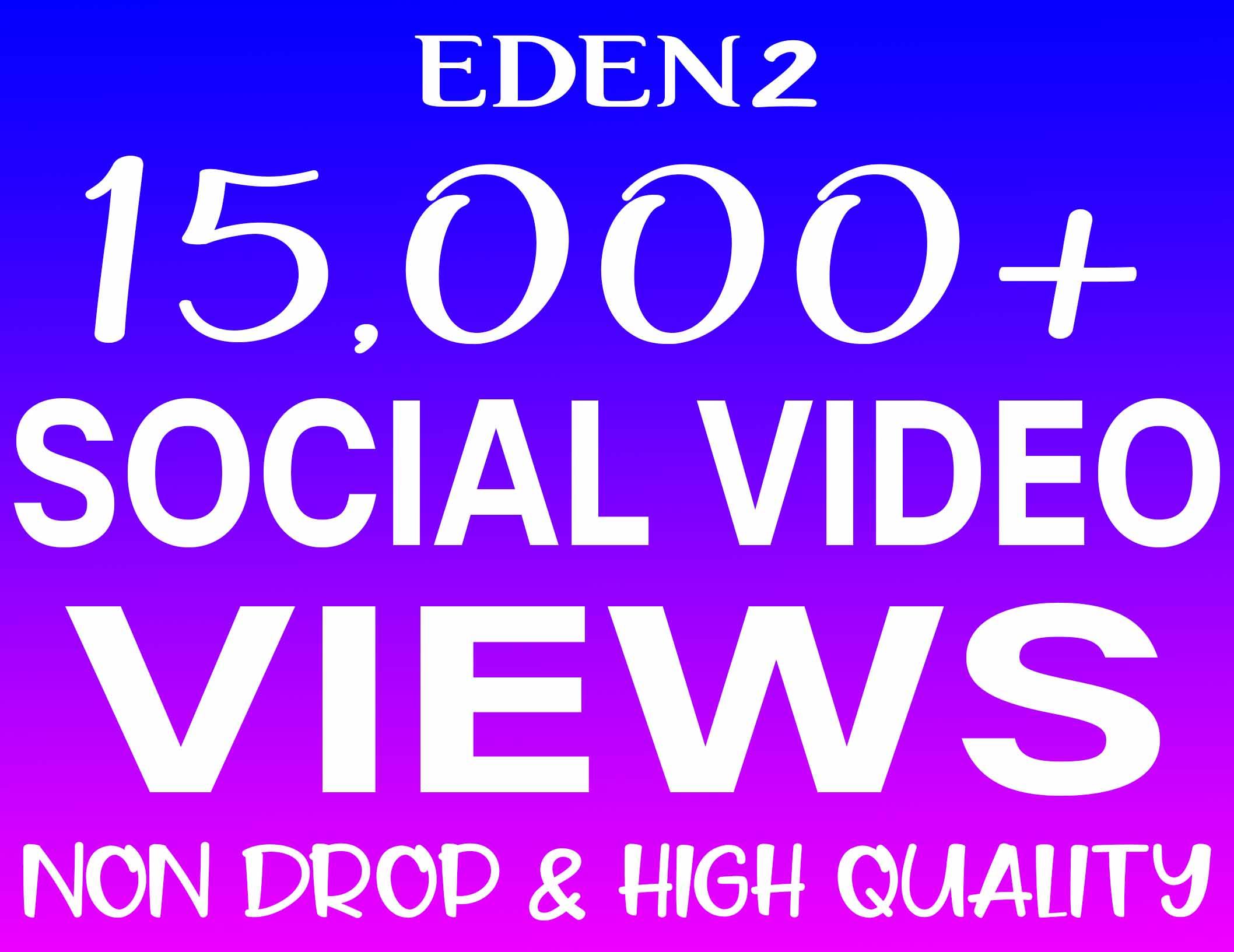 Add 15K Social Video Views Non Drop & High Quality - INSTANT START