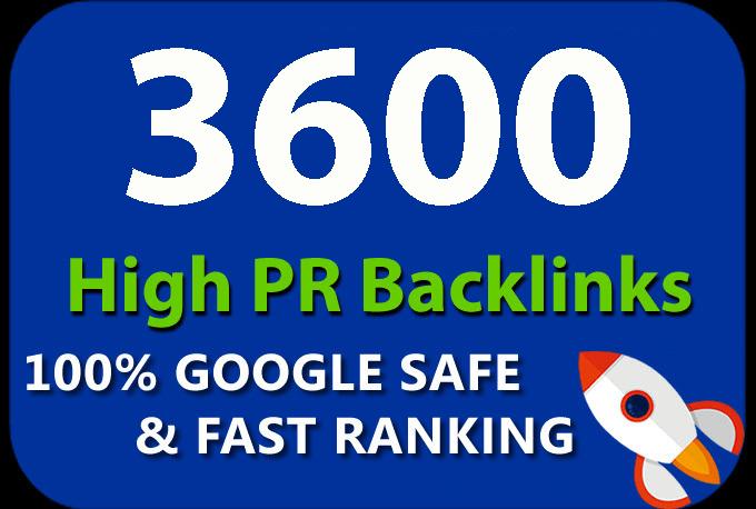 Get you 3600 HQ. Mix platforms PR10 to PR6 Backlinks