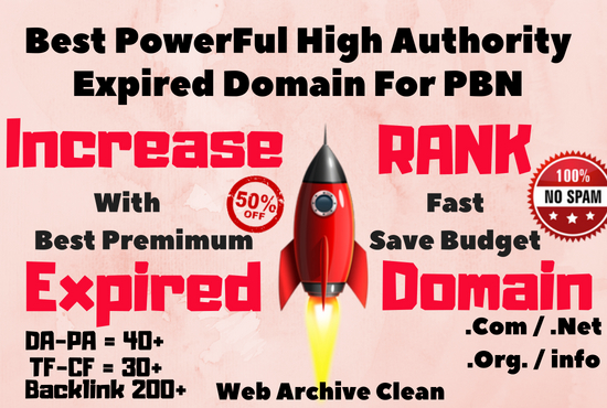 Research Best Powerful Expired Domain For Pbn