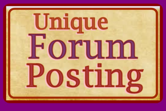 Offer 30 Quality Forum Commenting
