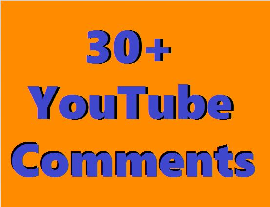Instant Add 30+ YouTube Custom Comments With 30+ Real Like Supper Fast Just