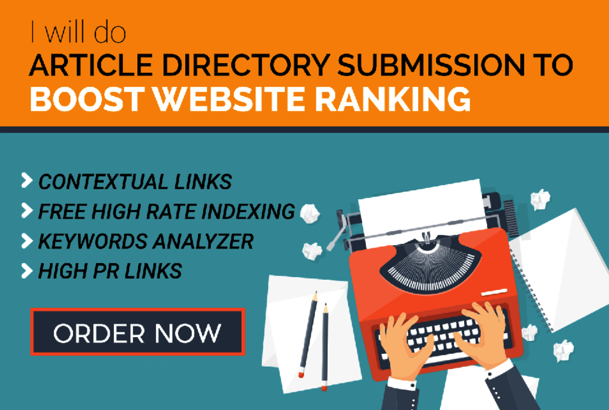 I will do 2000 Article Directories Backlinks from Contextual site