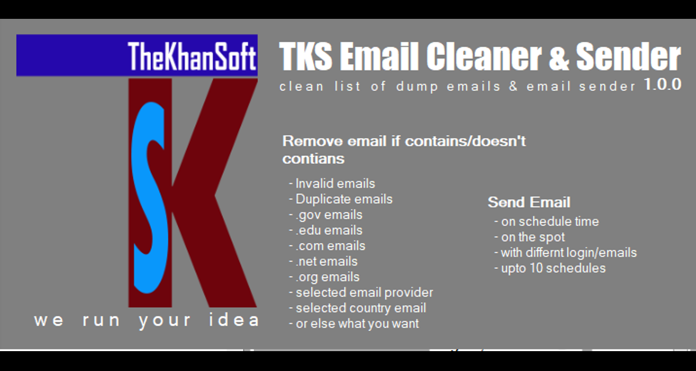Email List Cleaner and Email Sender