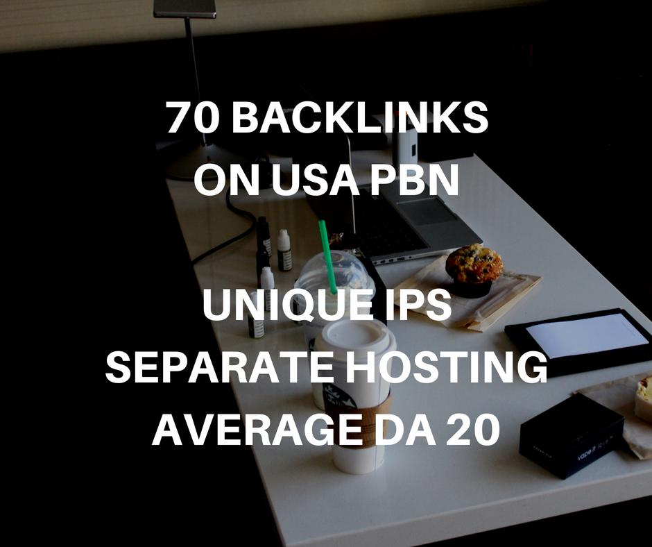 20 Backlinks on USA PBN Sites