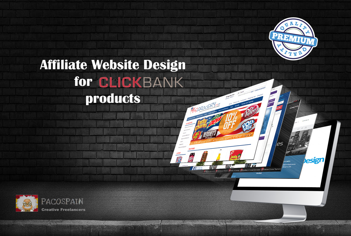 design an affiliate website with CLICKBANK products