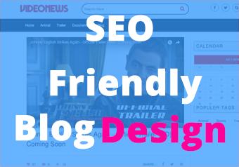 SEO friendly WordPress blog website design and development