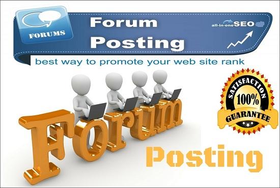 Provide Do Follow High Quality 07 Forum Posting