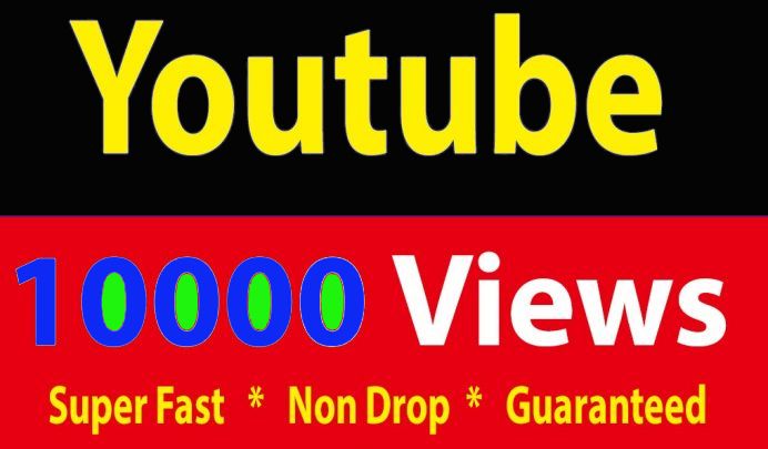 Bay non drops 10000 video view.s and 50 likes or 10 subsccriberrs
