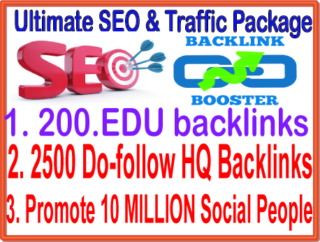SEO & SMM Top Campaign - 200. EDU Backlinks- 10 M...