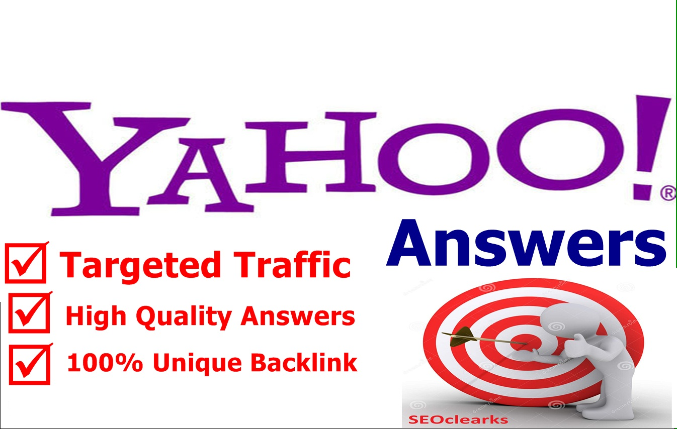 Get Targeted Traffic With High Quality Guaranteed 10 Yahoo Answers