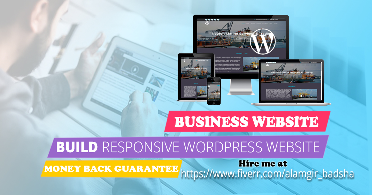 I will build a professional business website