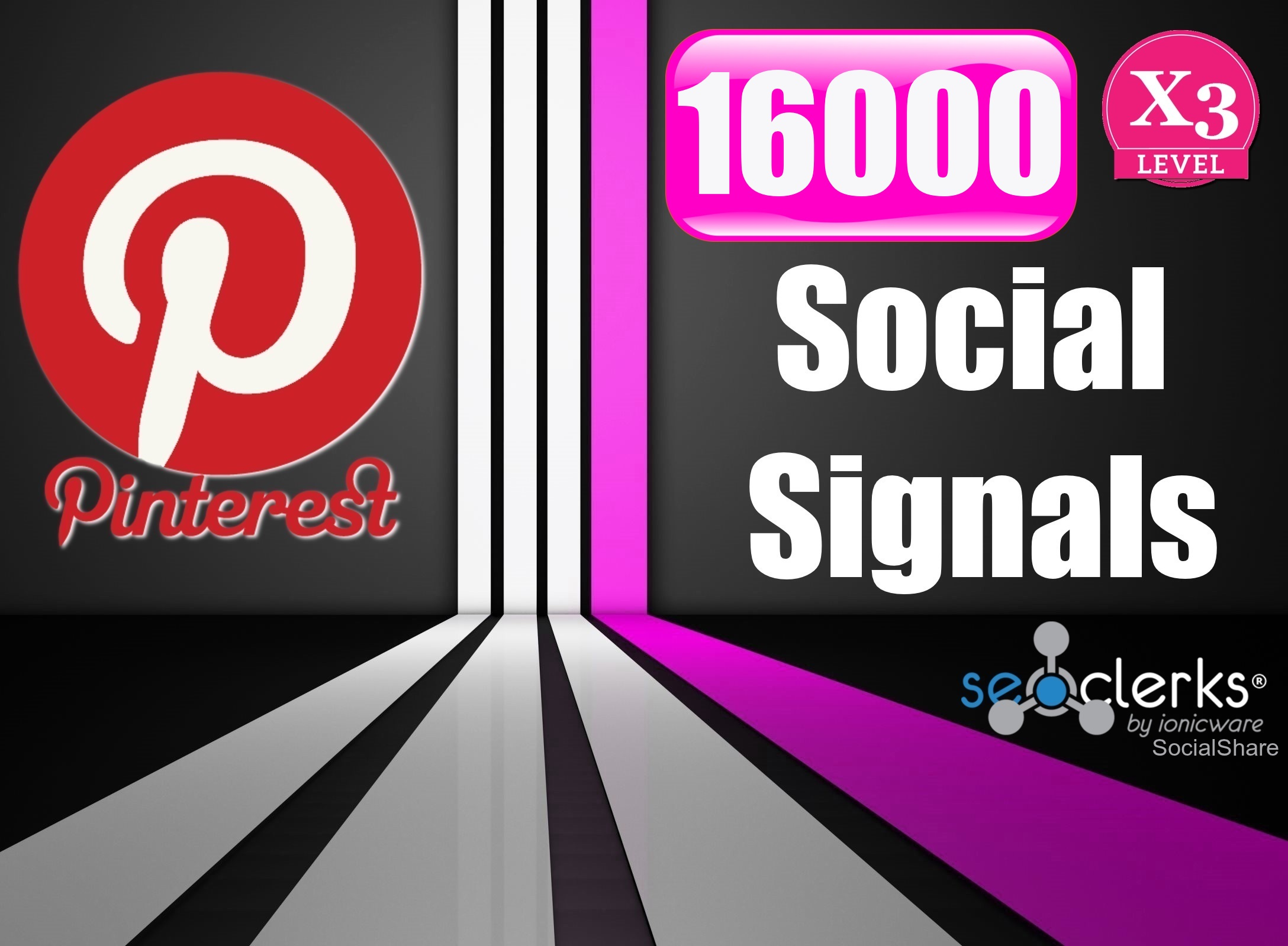16,000 PR10 Pinterest USA Social Signals Life Time Be...