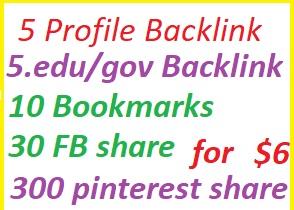 Rank with 5 PB+5 gov/edu PB+25bookmark+15 fb share+30...