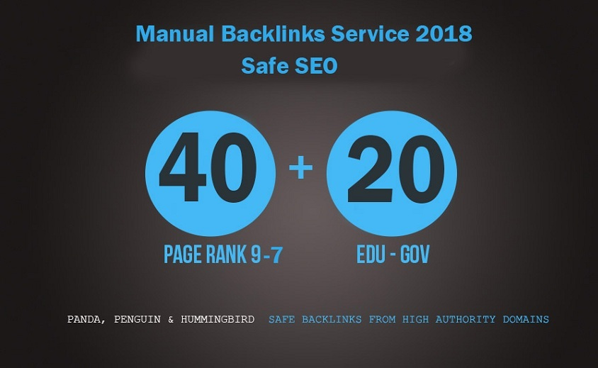 Update SEO 60 Backlinks 40 pr9-7 with  20 Edu Gov Backlinks for Better SEO Rank And will add my premium Indexer