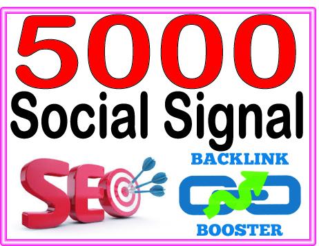 Create 5000 Social Signal Highly Authorized Google Dominating Backlinks