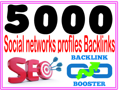 Do 5000 Social networks profiles backlinks- High PR Metrics Backlinks