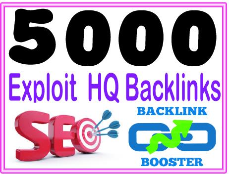 Submit 5000 Exploit backlinks - High PR Most Effective Backlinks