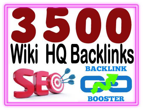 Add 3500 Wiki backlinks- include. mix profiles & articles- High PR Metrics Backlinks