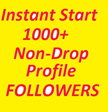 Instantly Start 1000+ High Quality Profile Followers ...