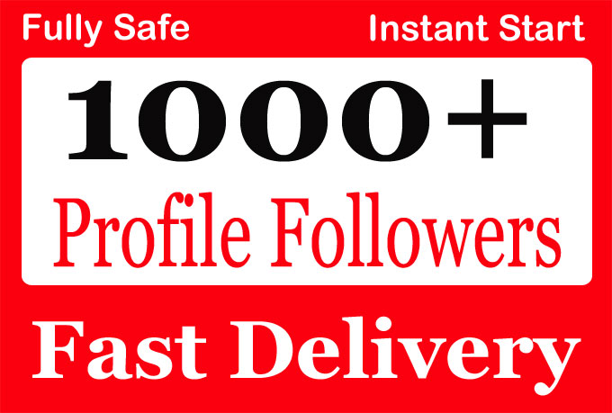 Add 1000+ High Quality Social Profile Followers