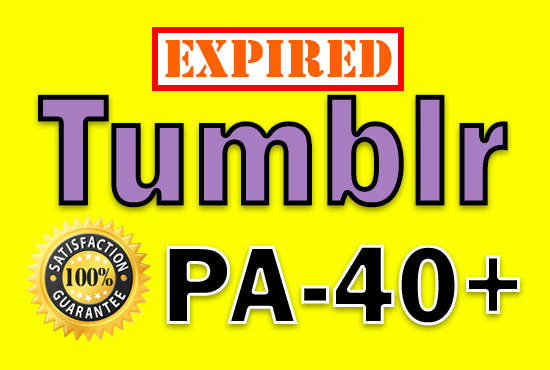 Get Unregistered 15 Expired Tumblr Blog Account PA 40 Plus