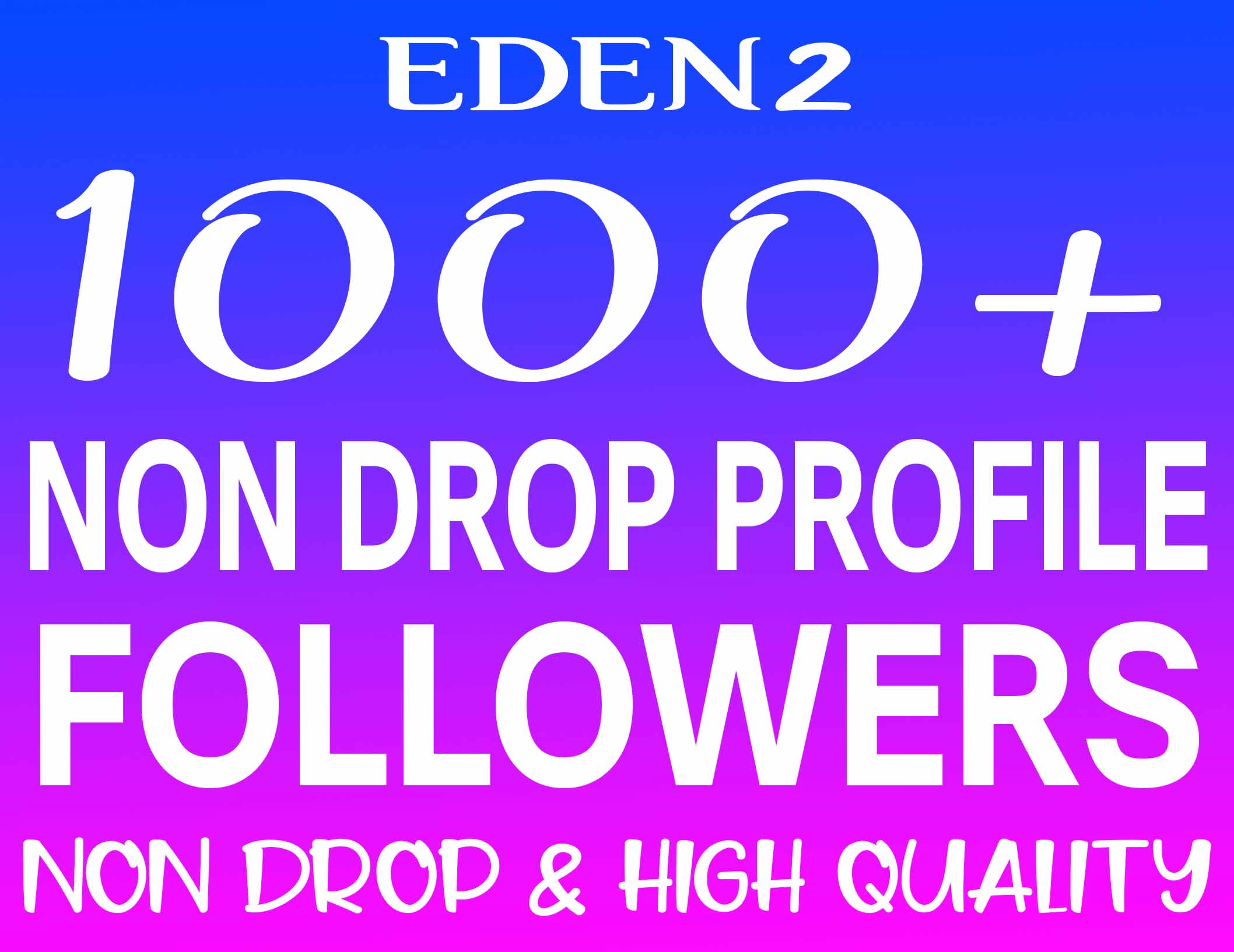 ADD 1000+ PROFILE FOLLOWERS REAL HIGH QUALITY & NON DROP - INSTANT START