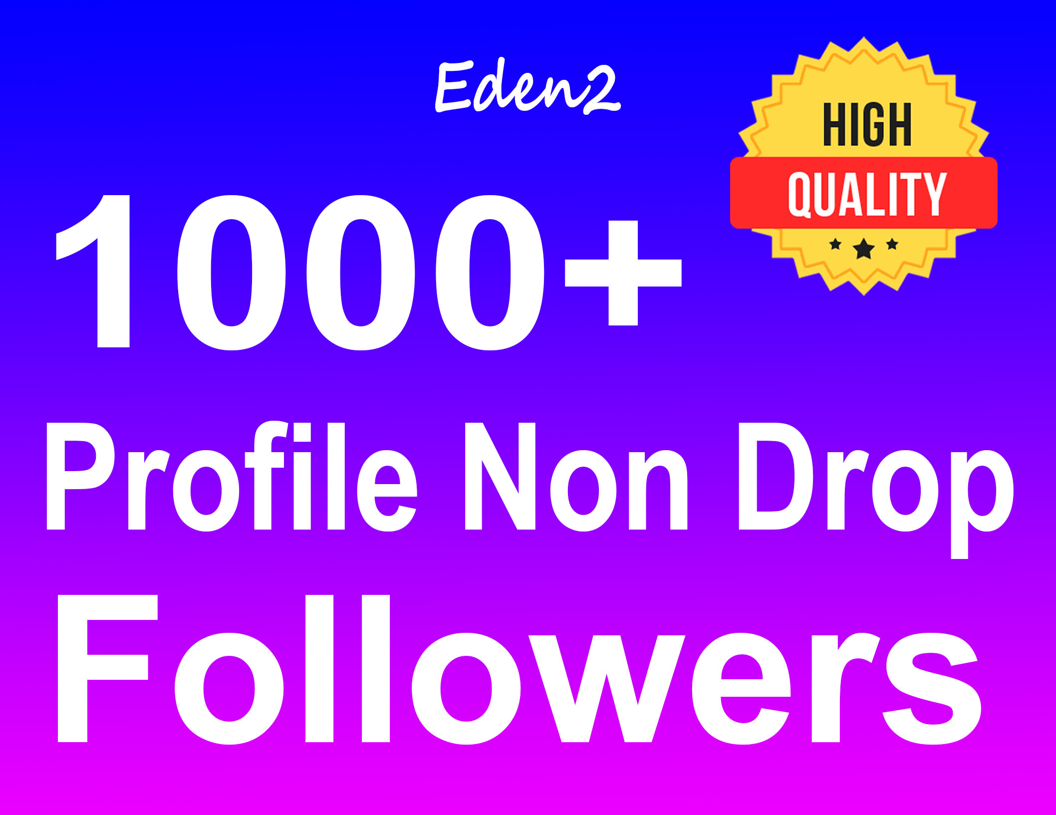 Add 1000+ Profile Followers Safe High Quality & Non Drop