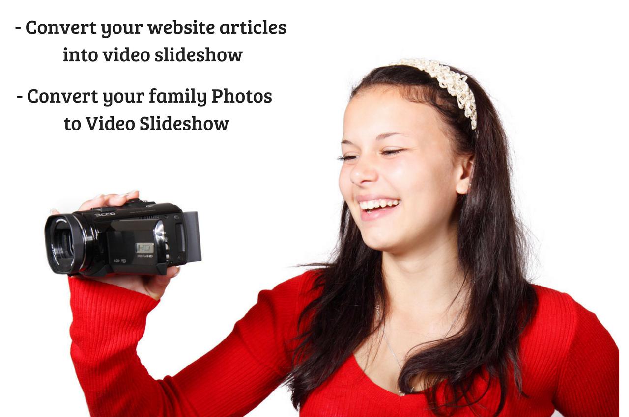 Convert 5 Blog Post To Video SlideShow