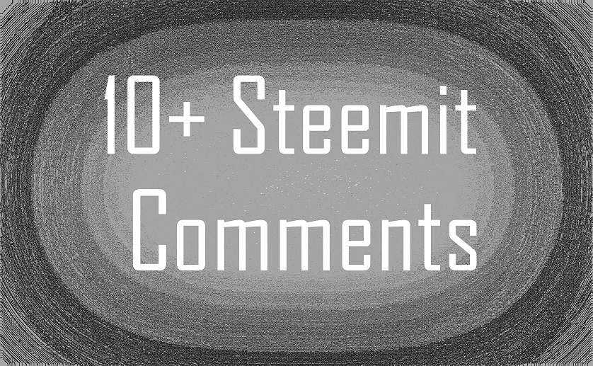 10 / 50+ character steemit comments