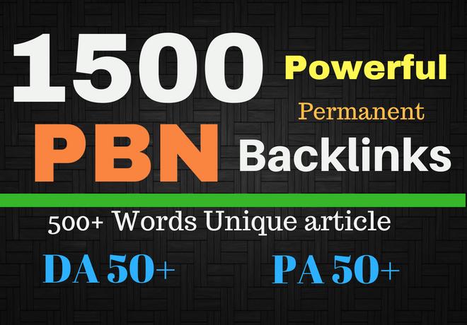 Create 1500 PBN backlinks for higher google ranking
