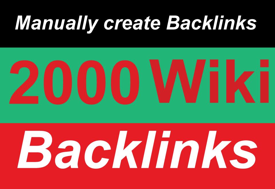 2000 High Quality DA/PA Manual Wiki Articles backlink...