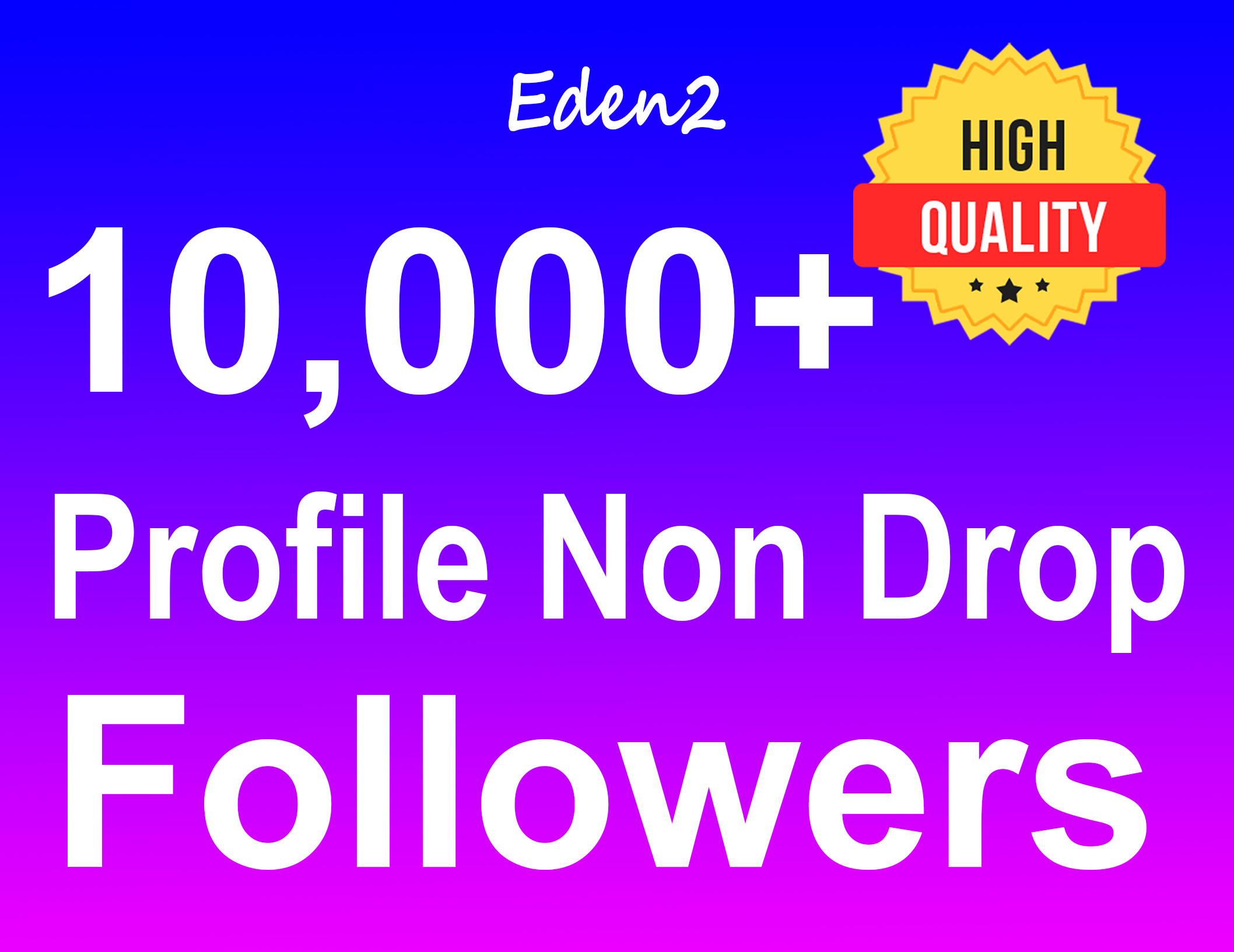 Add 10,000+ Profile Followers Real High Quality & Non Drop