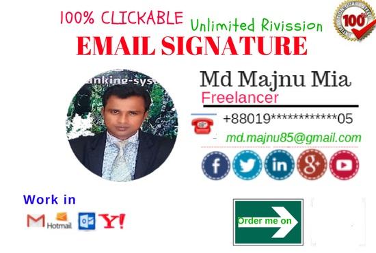 do clickable Html Email Signature