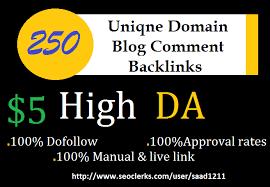 Provide 250 Dofollow Blog Comments Backlinks High Qua...
