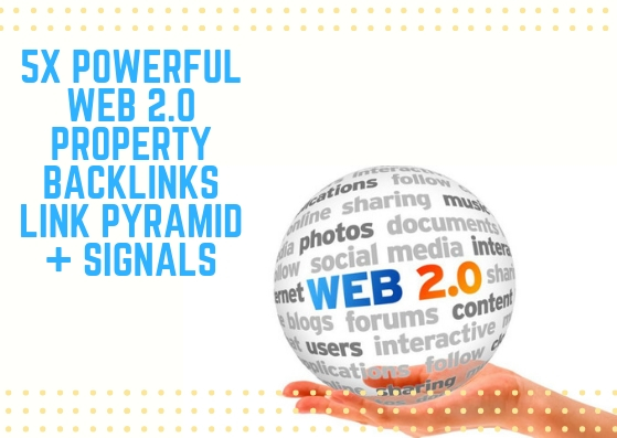 Powerful 5x Web 2.0 Property Link Pyramid Backlinks S...