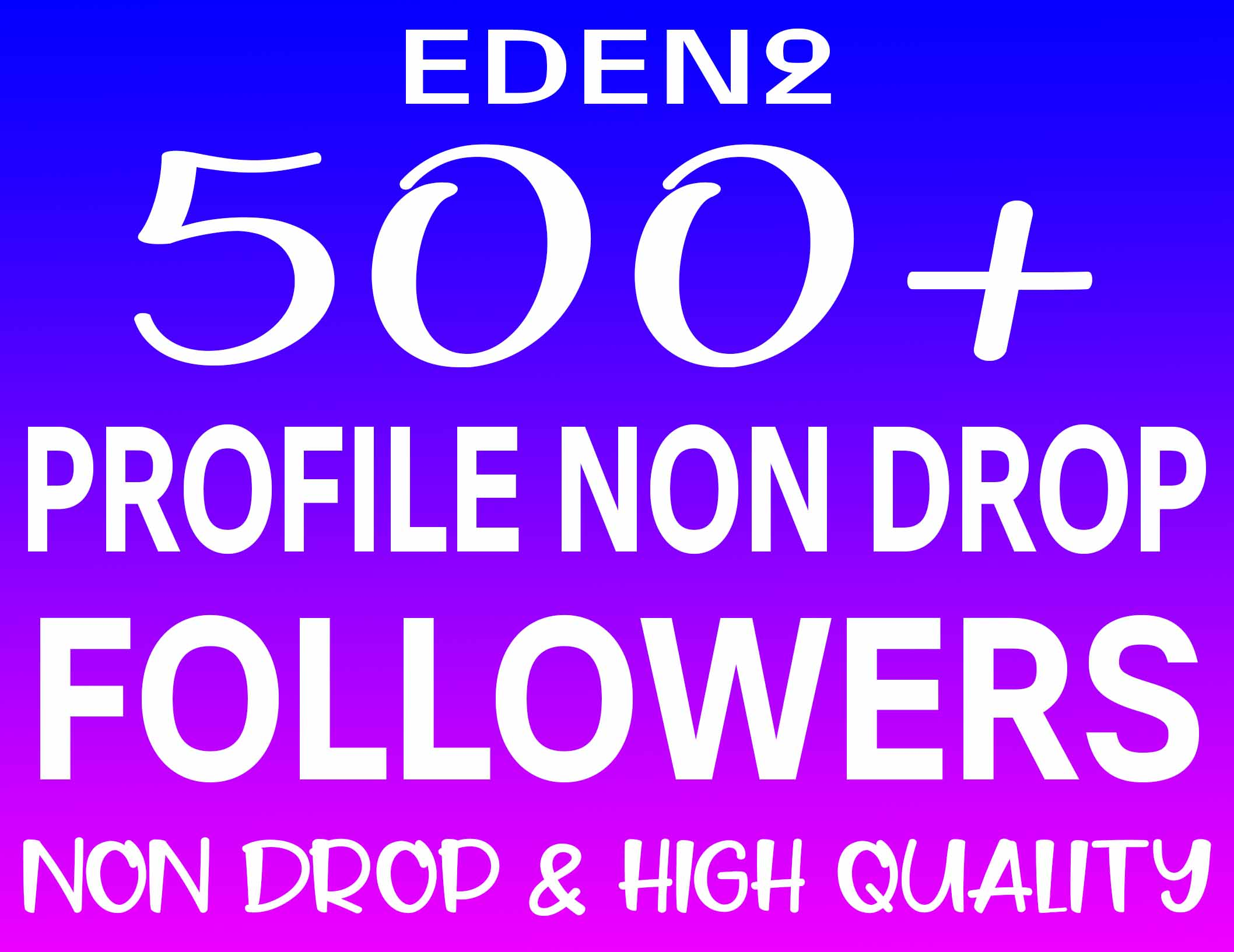 ADD 500+ PROFILE FOLLOWERS REAL HIGH QUALITY & NON DROP - INSTANT START