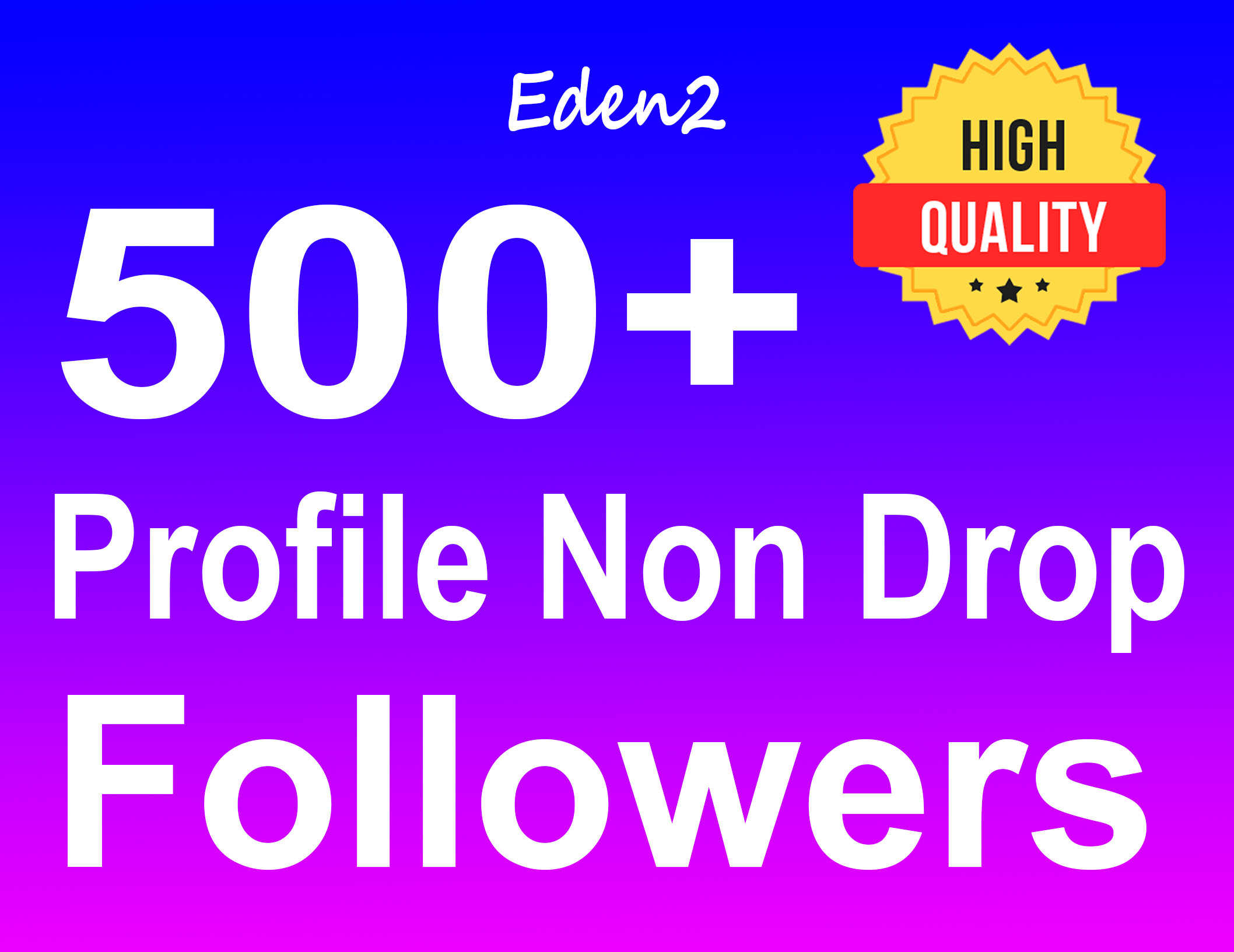 Add 500+ Profile Followers Safe High Quality & Non Drop