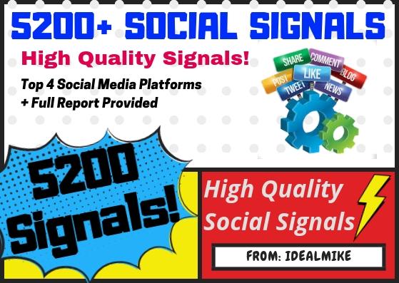 5200+ Mixed Platform Permanent Social Signals Rank Higher with Signals