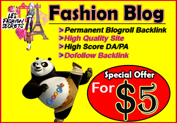place your link on 7xDA81 Fashion Permaent Blogroll