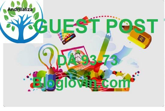 Write & post on Bloglovin. com