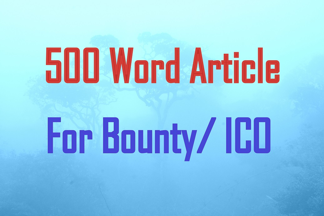 write articles / content / blogs for your ico / bount...